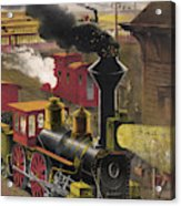 Railroad Junction, C1876 Acrylic Print