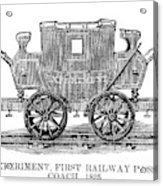 Railroad Passenger Car Acrylic Print