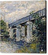 Railway Bridge At Argenteuil Acrylic Print