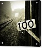 Railway  Acrylic Print by Les Cunliffe