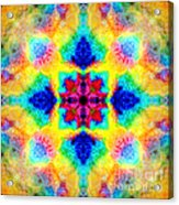 Rainbow Light Mandala Acrylic Print