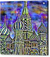 Rainbow Temple Acrylic Print