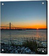 Charleston Sundown Acrylic Print