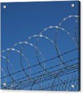 Razor Wire Fence In Las Vegas Acrylic Print