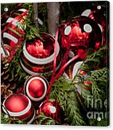 Red Christmas Balls Acrylic Print