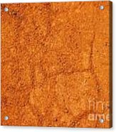 Red Earth Or Soil Background Acrylic Print