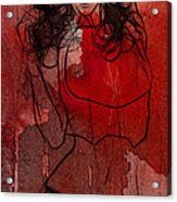 Red Is The Color Of Love Acrylic Print