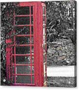Red Phone Box Acrylic Print