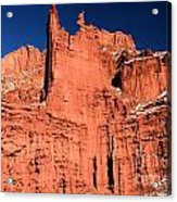 Red Rock Fisher Towers Acrylic Print