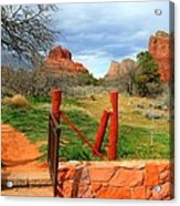 Enter Red Rock Country Acrylic Print