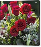 Red Rose Romance Acrylic Print