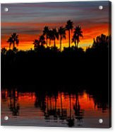 Red Skies  Acrylic Print