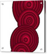 Red Spirals Acrylic Print