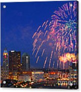 Red White And Boom Photo Acrylic Print