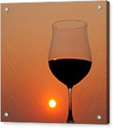 Red Wine At Sunset Acrylic Print