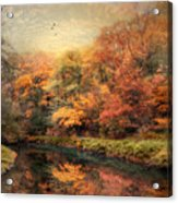Reflections Of October Acrylic Print