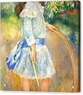Renoir's Girl With A Hoop Acrylic Print