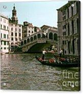 Rialto Bridge In The Grand Canal Acrylic Print