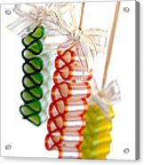 Ribbon Candy Acrylic Print
