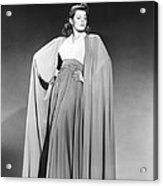 Rita Hayworth, Columbia Portrait, Early Acrylic Print