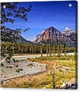 River And Mountains In Jasper Acrylic Print