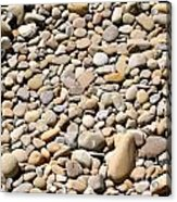 River Rocks Pebbles Acrylic Print