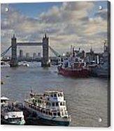 River Thames View Acrylic Print