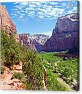 River Through Zion Acrylic Print