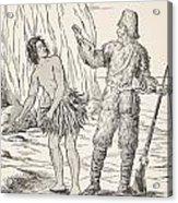 Robinson Crusoe And Friday Acrylic Print