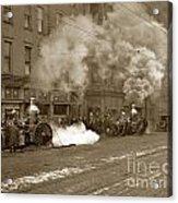 Steam Pumper Rochester Show Case Co. Fire Circa 1890s Acrylic Print