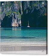 Rock Formations In The Sea, Phi Phi Acrylic Print