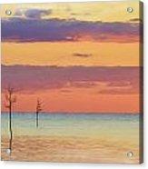 Rock Harbor Sunset Acrylic Print