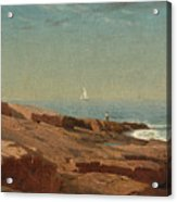 Rocks At Narragansett Acrylic Print