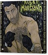 Rocky Marciano Acrylic Print by Eric Cunningham