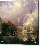 Rocky Mountain Landscape Acrylic Print