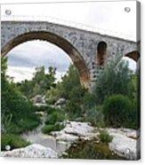 Roman Arch Bridge Pont St. Julien Acrylic Print