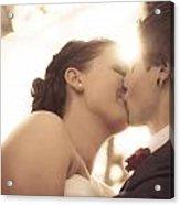 Romantic Wedding Kiss Acrylic Print