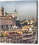 Rome Cityscape Acrylic Print