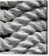 Rope Pattern Acrylic Print by Yali Shi