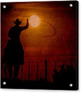 Ropin' The Moon Acrylic Print