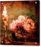 Roses By Candlelight Acrylic Print