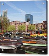 Rotterdam Cityscape In Netherlands Acrylic Print