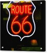 Route 66 Edited Acrylic Print