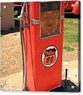 Route 66 Gas Pump Acrylic Print
