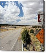 Route 66 Sign Acrylic Print