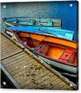 Row Boats Acrylic Print