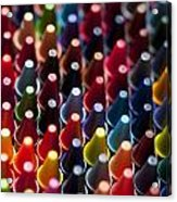 Rows Of Multicolored Crayons  Acrylic Print