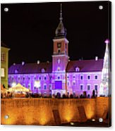 Royal Castle In Warsaw At Night Acrylic Print