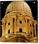 Royal Palace Dome In Budapest Acrylic Print