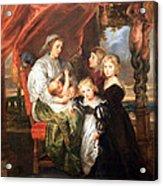 Rubens' Deborah Kip -- Wife Of Sir Balthasar Gerbier -- And Her Children Acrylic Print